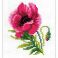 RIOLIS Happy Bee 5\u0027\u0027x6.25\u0027\u0027 Counted Cross Stitch Kit-Pink Poppy