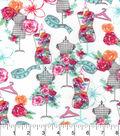 Snuggle Flannel Fabric -Floral Dressform
