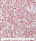 Valentine\u0027s Day Sweetheart Print Fabric 43\u0027\u0027-Whimsical Hearts