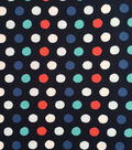 Doodles Collection Fabric -  Majestic Interlock Big Dot Blue