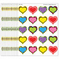 Teacher Created Resources Fancy Hearts Stickers, 120 Per Pack, 12 Packs