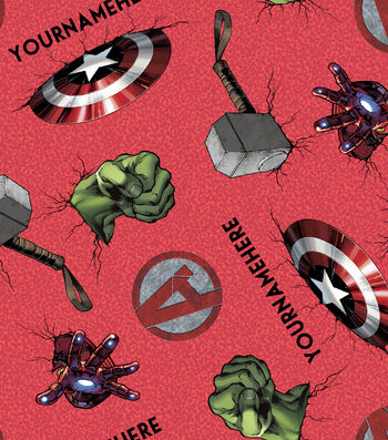 Marvel Avengers Print Fabric by Springs Creative-Icon Toss