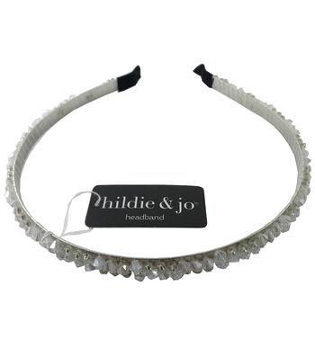 hildie & jo 5.88''x5'' Headband-Clear Rhinestone