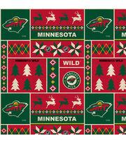 Minnesota Wild Fleece Fabric-Winter, , hi-res