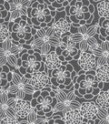 Snuggle Flannel Fabric 42\u0022-Sketched Flowers