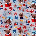 Snuggle Flannel Fabric -Physics Animals