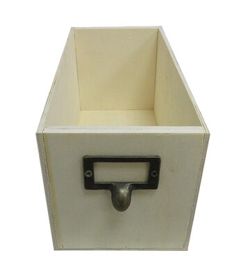 Unifnished Wood Long Label Box