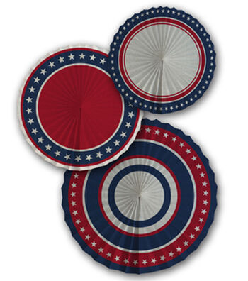 Americana Patriotic 3 pk Pinwheels-Stars & Stripes