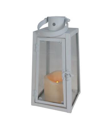 Hello Spring Small Metal LED Lantern-White