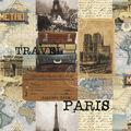 Novelty Cotton Fabric-Trans Atlantic Travel
