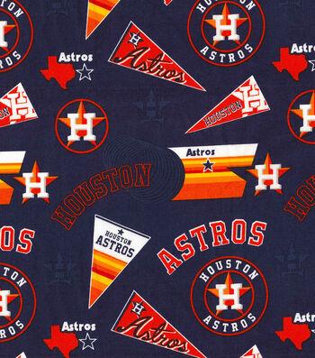 Houston Astros Cotton Fabric -Pennant