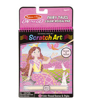 Melissa & Doug On The Go Scratch Art Color Reveal Pad-Fairy Tales, , hi-res