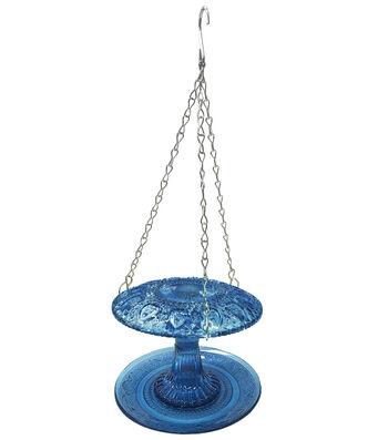 In the Garden Glass Bird Feeder-Blue