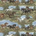 Super Snuggle Flannel Fabric-Realistic Horses