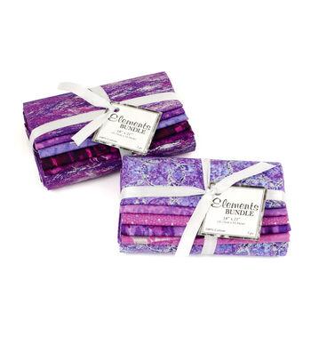 """Fat Quarter Bundle Cotton Fabric 18""""-Purple Bundle"""