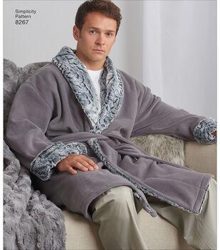 7b93067e00 Simplicity Pattern 8267 Unisex Sleepwear-Size A (XS-S-M-L-XL)