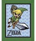 No Sew Fleece Throw 48\u0022-Zelda Sword