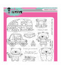 Pink & Main 13 pk Clear Stamps-Happy Campers