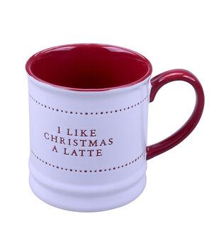 Handmade Holiday Christmas 16 oz. Stoneware Mug-I Like Christmas a Latte