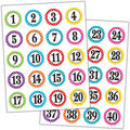 Teacher Created Resources Polka Dots Numbers Stickers 12 Packs
