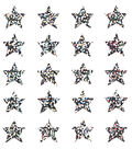 Sandylion Classpak Stickers-Stars Silver