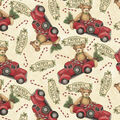 Christmas Cotton Fabric-Toy Bear & Red Truck