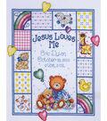 Tobin Jesus Loves Me Sampler Counted Cross Stitch Kit