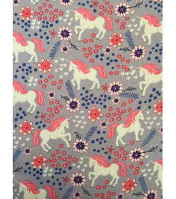 Doodles Juvenile Apparel Fabric 57''-Lilac & Unicorn
