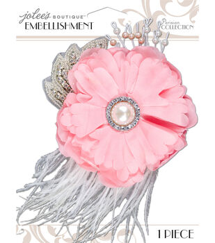 Jolee's Boutique Parisian Blush Embellished Flower