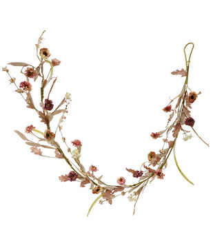 Blooming Autumn 66'' Paper Flower Garland-Mood Mauve