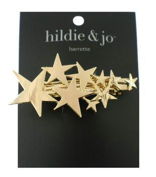 hildie & jo Multi Star Gold Barrette