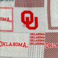 University of Oklahoma Sooners Fleece Fabric -Gray Block