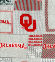 "University of Oklahoma Sooners Fleece Fabric 58""-Gray Block, , hi-res"