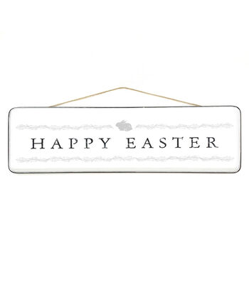 Easter Enamel Sign Wall Decor-Happy Easter