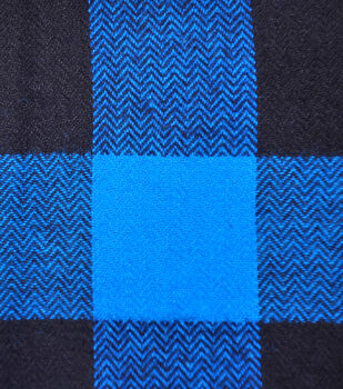 Shirting Cotton Fabric -Blue & Black Buffalo Check