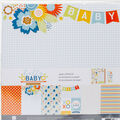 Paper House Paper Crafting Kit 12\u0022X12\u0022-Hello Baby Boy