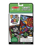 """Melissa & Doug On The Go Craft Activity Set 6""""X10"""" 5 Pages-Foil Art, , hi-res"""