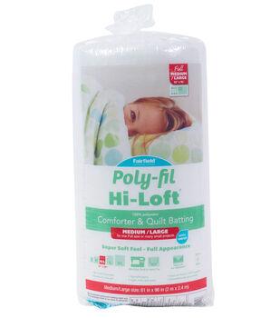 "Poly-Fil Hi-Loft 100% Bonded Polyester Batting-Full Size 81"" x 96"""