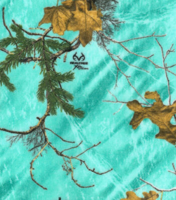 Realtree Fleece Fabric 58''-Sea Glass