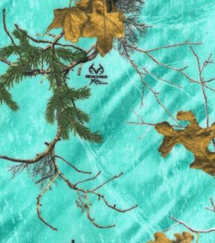 Realtree Fleece Fabric 58''-Sea Glass