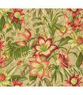 Tommy Bahama Lightweight Decor Fabric 54\u0022-Botanical Glow/Bonfire
