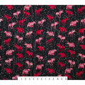 Super Snuggle Flannel Fabric-Red Bear & Moose on Birch