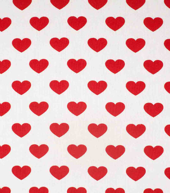 Nursery Fabric with Hearts Premium Textile Fabric for Girl Hearts Cotton Fabric