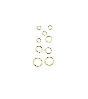 Blue Moon Findings Jump Ring Metal 4, 6 & 8mm Gold