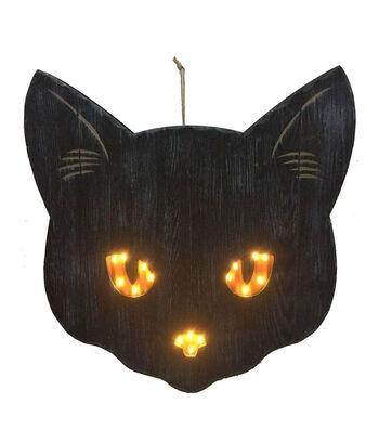Maker's Halloween Cat Head Wall Decor-Black