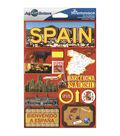 Jet Setters International Dimensional Stickers 4.5\u0022X6.75\u0022-Spain