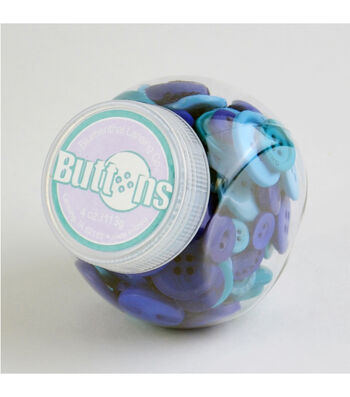 Jar O Buttons-Blue