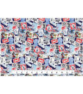 Patriotic Cotton Fabric 43\u0027\u0027-Postage Stamps