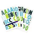 Sticko Futura Regular X-Large Alphabet Stickers-Cool Pattern