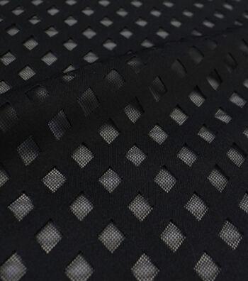 Performance Bonded Mesh Fabric -Black